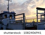 old ship on sunset background | Shutterstock . vector #1082406941