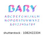 transparent font. vector...   Shutterstock .eps vector #1082422334