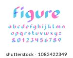 transparent font. vector... | Shutterstock .eps vector #1082422349