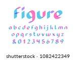 transparent font. vector... | Shutterstock .eps vector #1082422349