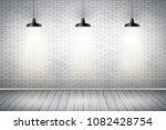 interior of white brick wall... | Shutterstock .eps vector #1082428754