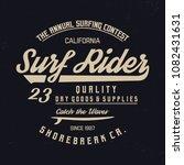 surf rider typography.... | Shutterstock .eps vector #1082431631