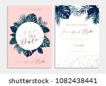 save the date wedding... | Shutterstock .eps vector #1082438441