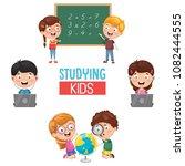 vector illustration of kids... | Shutterstock .eps vector #1082444555