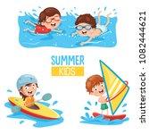 vector illustration of kids... | Shutterstock .eps vector #1082444621