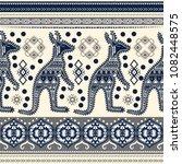 bohemian hand drawn seamless... | Shutterstock .eps vector #1082448575