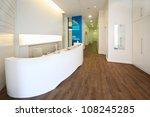 lit reception area in dental... | Shutterstock . vector #108245285