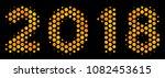 halftone hexagonal 2018 year... | Shutterstock .eps vector #1082453615