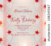 wedding card or invitation with ... | Shutterstock .eps vector #108245567