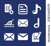 set of 9 note filled icons such ...