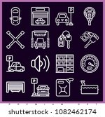 set of 16 car outline icons... | Shutterstock .eps vector #1082462174