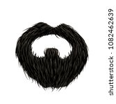 detailed black mustache and... | Shutterstock . vector #1082462639