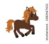 adorable cartoon horse... | Shutterstock .eps vector #1082467631