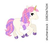 cute unicorn illustration. | Shutterstock .eps vector #1082467634