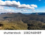 view beyond the three sisters... | Shutterstock . vector #1082468489