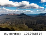 view beyond the three sisters... | Shutterstock . vector #1082468519