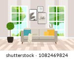 interior design of the living... | Shutterstock .eps vector #1082469824