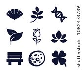 set of 9 nature filled icons... | Shutterstock .eps vector #1082473739