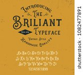 original handmade alphabet....   Shutterstock .eps vector #1082477891
