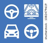 set of 4 driving filled icons... | Shutterstock .eps vector #1082479619