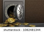 3d illustration of metal safe... | Shutterstock . vector #1082481344