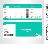 airline boarding pass ticket... | Shutterstock .eps vector #1082483081