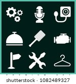 set of 9 tools filled icons... | Shutterstock .eps vector #1082489327