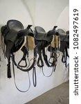 leather saddle horse  retro... | Shutterstock . vector #1082497619