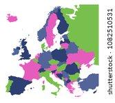 political map of europe...   Shutterstock .eps vector #1082510531