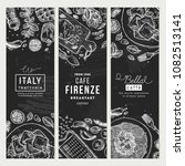 italian food banner collection. ... | Shutterstock .eps vector #1082513141