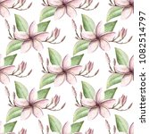 hand painted watercolor floral... | Shutterstock . vector #1082514797