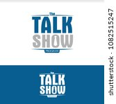 talk tv show program logo | Shutterstock .eps vector #1082515247