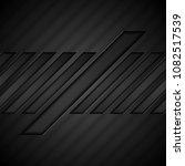 black tech geometric concept...   Shutterstock .eps vector #1082517539