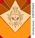 durga goddess of power  divine...   Shutterstock .eps vector #1082519669