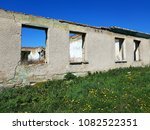 ruined house photo | Shutterstock . vector #1082522351