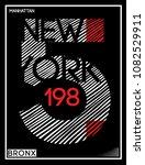nyc  new york  stock vector... | Shutterstock .eps vector #1082529911