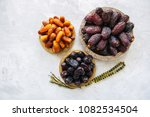 various of dried dates or kurma ... | Shutterstock . vector #1082534504