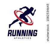 running man silhouette logo... | Shutterstock .eps vector #1082534645