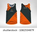 sleeveless sport t shirt design | Shutterstock .eps vector #1082534879