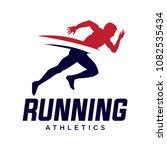 running and marathon logo vector | Shutterstock .eps vector #1082535434