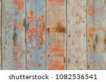peeled and faded plank wooden... | Shutterstock . vector #1082536541