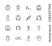 premium set of clothes linear... | Shutterstock .eps vector #1082537504
