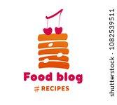 food blog recipe. concept... | Shutterstock .eps vector #1082539511