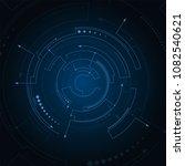 digital futuristic user... | Shutterstock .eps vector #1082540621
