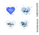 set of happy father's day...   Shutterstock .eps vector #1082541995