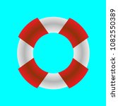 lifebuoy icon with long shadow. ... | Shutterstock .eps vector #1082550389