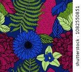 spring flowers seamless design. | Shutterstock .eps vector #1082550851