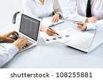 group of business people busy... | Shutterstock . vector #108255881