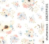 beautiful floral pattern with... | Shutterstock .eps vector #1082559101