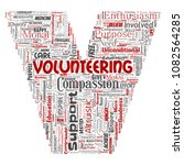 conceptual volunteering ... | Shutterstock . vector #1082564285